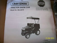 Sears Snow Cab for Lawn Tractors ...(Brand New in the box)
