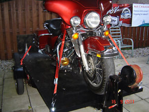 Motorcycle and snowmobile trailer