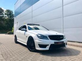 2012 62 reg Mercedes-Benz C63 6.3 AMG Coupe WHITE + BLACK STYLING + NICE SPEC