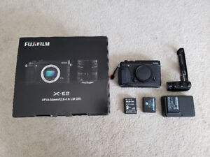 Fujifilm X-E2 Body with 2 grips and extras