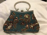 Beaded and diamanté vintage bag