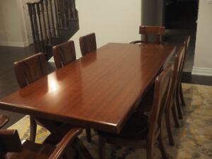 Cherry wood dining  (9 peices)