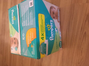 Pampers Natural Clean wipes- box of 5 packs