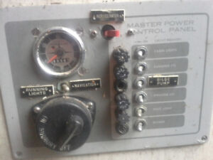Marine Electric panel / switches and fuses.