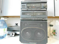 Yorx Play N Sing Compact Home Audio System Double Cassette Deck