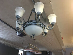 Ensemble chandelier/plafonnier/rosette