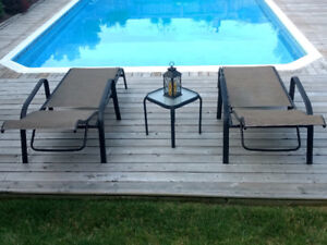 2 gorgeous NEW lounge chairs