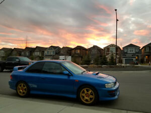 1998 JDM Subaru WRX STI Type R with Nokian Studded Tires