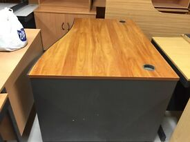 Used office desk in walnut
