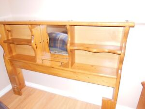 Queen Size Bed Frame with Mirror