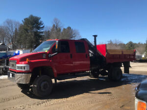 CERTIFIED 2005 Chevrolet C4500 Crane Truck Dump Box 4x4