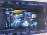 Mini moto part toolbox is included