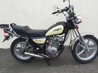 lexmoto vixen 125cc cream and black