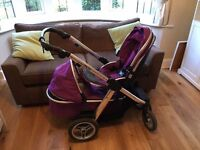 Oyster Max Double Pram Grape