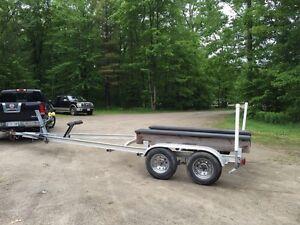 Tandem boat trailer