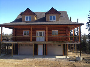NEW LAKESIDE LOG HOME   $455000.00 GST Included