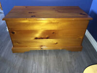 Beautiful Cedar Lined Storage Chest - Solid Wood  Downsizing