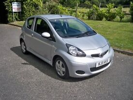 Toyota AYGO 1.0 VVT-I ICE FULL SERVICE HISTORY AIR CONDITIONING HALF LEATHER (silver) 2011