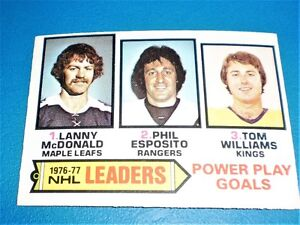 1976-77 LEADERS  POWER PLAY GOALS