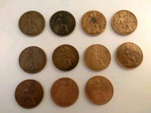 Lot de pièces de monnaie penny antiques