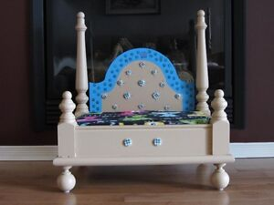 Custom pet beds made from pine end tables (2 only)