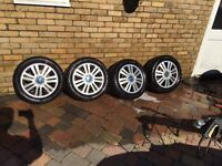 Ford Focus c-max mondeo transit connect twin 7 spoke 5 stud alloy wheels 5x108