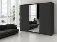 GET YOUR ORDER NOW- BRAND NEW BERLIN FULL MIRROR 2 DOOR SLIDING WARDROBE =GET IT NOW