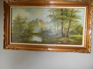 Large Oil Painting in Ornate Frame, Old and Great Condition