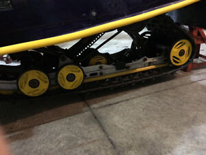 98 skidoo SC-10 rear skid with almost complete part skid