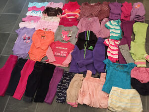 EXCELLENT CONDITION girl's clothes sizes 12 months - 2T (58 pcs)