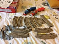 Trackmaster motorised Thomas and carriage, Flynn Fire Engine and spare track. Excellent condition!!