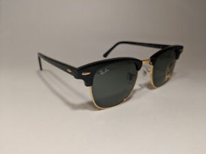 Ray Ban Clubmaster Classic Black Frame Green Lens Sunglasses
