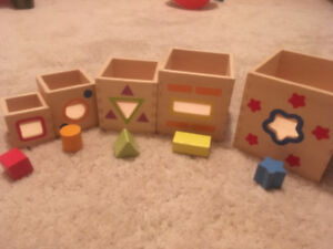 Toddler  blocks and  puzzle set