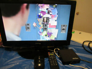 "19"" lcd tv and android box MXQ plus."
