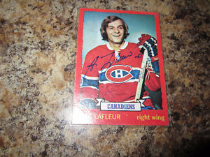 23 Guy Lafleur Autographed Hockey Cards $30 each ($690 for all)