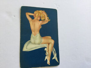 Vintage 1940's Esquire Pinup girl playing cards