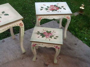 Set of 4 nesting tables  & accent round tower with DRAWERS REDUC Kingston Kingston Area image 3