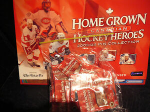 NHL HOME GROWN CANADIAN HEROES 2003-2004 PIN COLLECTION