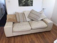 Large 2 seater leather sofa £130 o.n.o