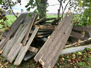 FREE - Old Fence Boards