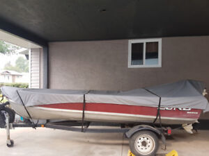 14ft lund fishing boat and trailer