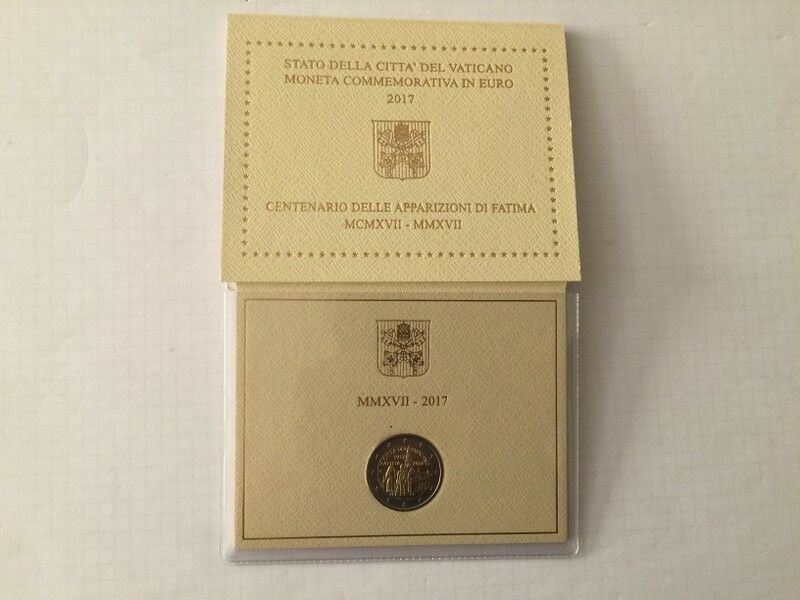 Original Vatikan 2 Euro Gedenkmünze 2017