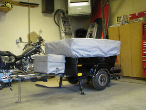 motorcycle or car tent trailer