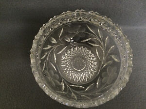 Collectible Antique Heavy Crystal Bowl London Ontario image 4