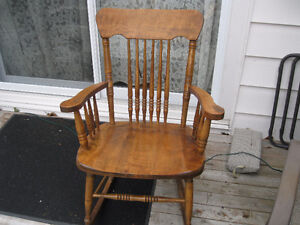 **Vintage Wooden Rocking Chair**