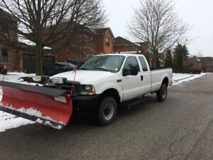 Ford F-250 4x4 with 8ft Western snow plow