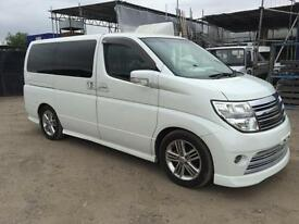 NISSAN ELGRAND RIDER S 2005 2.4 8 SEATER - PETROL - AUTOMATIC - LOW MILEAGE