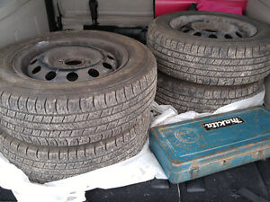185/65 R14 tires. Driven for 1 summer.  Nearly new.