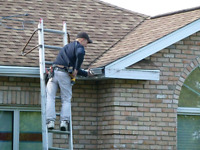 Gutter cleaning and Eavestrough maintenance protection