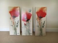 3 poppy canvasses